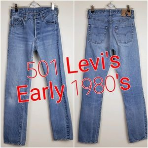 Vintage 501 Levi's || early 1980's || Rare Tall